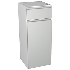 Wickes Hertford Grey Gloss Drawerline Floorstanding Storage Unit - 300 x 307mm