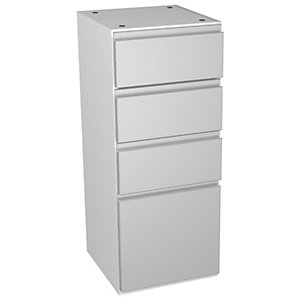 Wickes Hertford Grey Gloss Multi - Drawer Floorstanding Storage Unit - 300 x 307mm