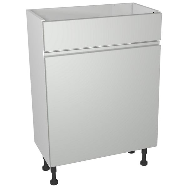Wickes Hertford Grey Gloss Compact Toilet Unit - 600 x 735mm