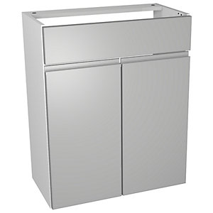 Wickes Hertford Dove Grey Floorstanding Vanity Unit - 600 x 307mm