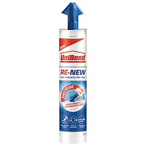 UniBond Re-New Silicone Sealant Cartridge White 280ml
