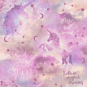 Arthouse Galaxy Unicorn Blush Multi Wallpaper 10.05m x 53cm