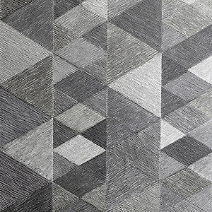 Arthouse Luxe Triangle Charcoal Wallpaper 10.05m x 53cm