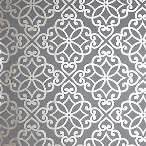 Arthouse Ornate Motif Charcoal & Rose Gold Wallpaper 10.05m x 53cm