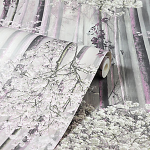 Arthouse Blossom Forest Dusky Pink Wallpaper 10.05m x 53cm