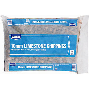 Image of Wickes 10mm Limestone Chippings - Major Bag