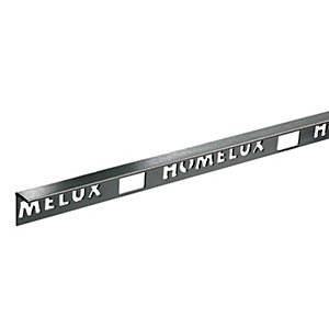 Image of Homelux 10mm Metal Straight Edge Stainless Steel Effect Tile Trim