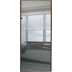 Spacepro Sliding Wardrobe Door Walnut Frame Mirror
