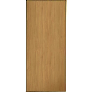 Spacepro Sliding Wardrobe Door Oak Frame & Panel - 2220 x 610mm