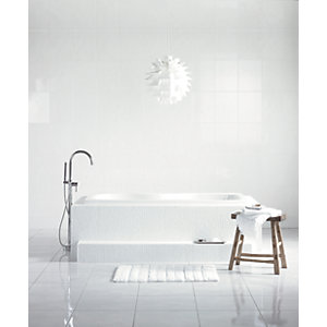 Wickes White Satin Ceramic Wall Tile 360 x 275mm
