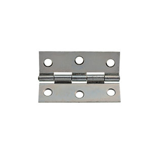 Wickes Butt Hinge - Zinc Plated 63mm Pack of 20