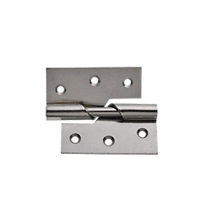 Wickes Rising Butt Hinge Left Hand - Chrome 76mm Pack of 2