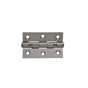Image of Wickes Grade 7 Fire Rated Ball Bearing Hinge - Satin Stainless Steel 75 x 51 x 2mm Pack of 10