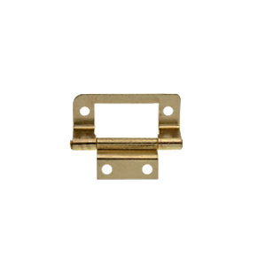 Wickes Double Cranked Flush Hinge - Brass 51mm Pack of 2