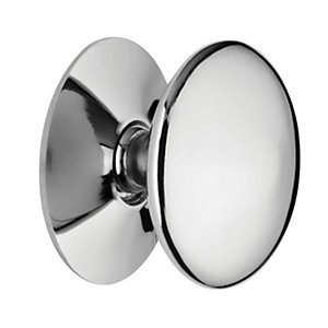 Wickes Victorian Cabinet Door Knob - Chrome 30mm Pack of 4