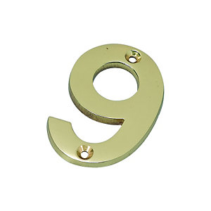 Wickes Door Number 9 - Brass