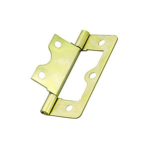 Wickes Flush Hinge - Brass 38mm Pack of 2