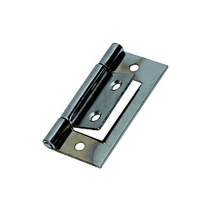 Wickes Flush Hinge - Chrome 51mm Pack of 2