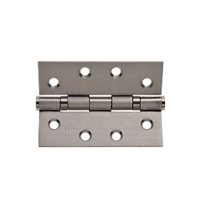 Wickes Grade 11 Ball Bearing Hinge - Satin Stainless Steel 102mm Pack of 2