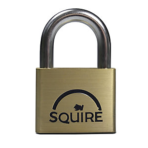 Squire LN5 Lion Padlock - Brass 50mm