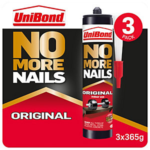 Image of Unibond No More Nails Original Cartridge - 365g X3