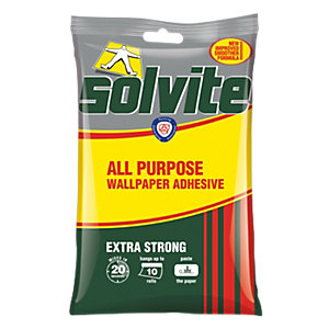 Image of Solvite All Purpose Wallpaper Paste - 10 Roll