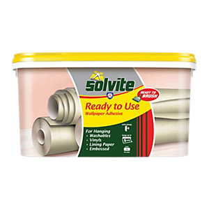Image of Solvite Ready to Use Wallpaper Paste - 5 Roll