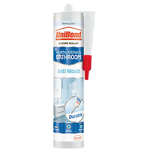 Image of UniBond Anti-Mould Kitchen and Bathroom Sealant Translucent - 274g