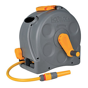 Image of Hozelock 2415 2 in 1 Compact Enclosed Reel with Hose Pipe - 25m