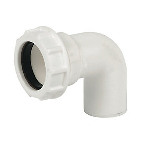 FloPlast WC26 Unicom Compression Waste 90 Deg Conversion Bend - 32mm
