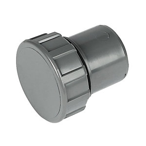 FloPlast WS30G Solvent Weld Waste Access Cap - Grey 32mm