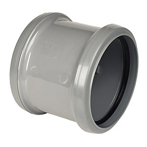 FloPlast SP105G Double Socket Coupling - Grey 110mm