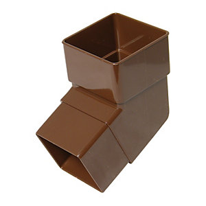 Floplast Rbs2br Square Line Downpipe Offset Bend Brown 1125 Deg X 65mm