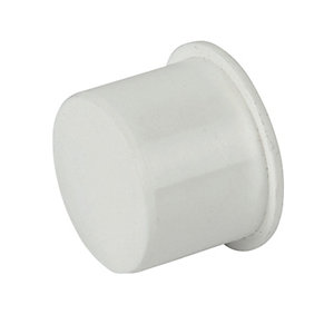 FloPlast WP30W Push-Fit Waste Socket Plug - White 32mm