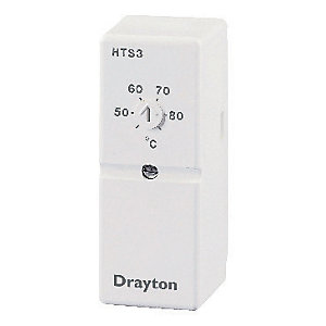 Drayton HTS3 White Hot Water Cylinder Thermostat