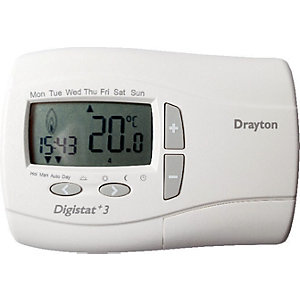 Drayton Digistat +3 7 Day Wired Programmable Room Thermostat