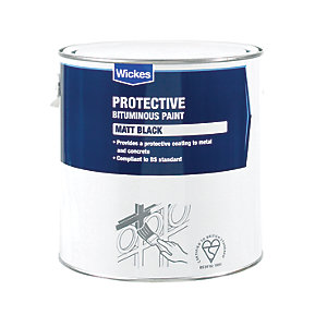 Wickes Metal & Concrete Bitumen Paint - Black 2.5L