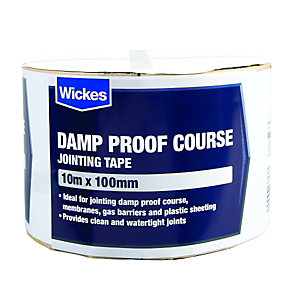 Wickes Damp Proof Course Jointing Tape - 100mm x 10m