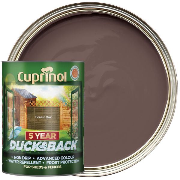 Cuprinol 5L Ducksback Matt Shed & Fence Treatment - Forest Oak