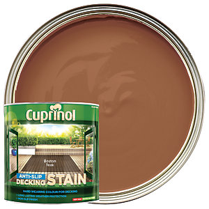 Cuprinol Anti-Slip Decking Stain - Boston Teak 2.5L