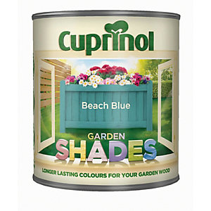 Image of Cuprinol Garden Shades Matt Wood Treatment - Beach Blue 1L