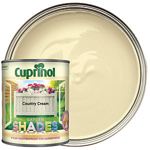 Cuprinol Garden Shades Matt Wood Treatment - Country Cream 1L