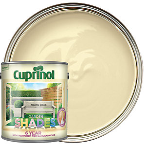 Image of Cuprinol Garden Shades Matt Wood Treatment - Country Cream 2.5L
