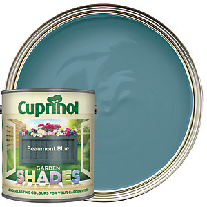 Image of Cuprinol Garden Shades Matt Wood Treatment - Beaumont Blue 1L