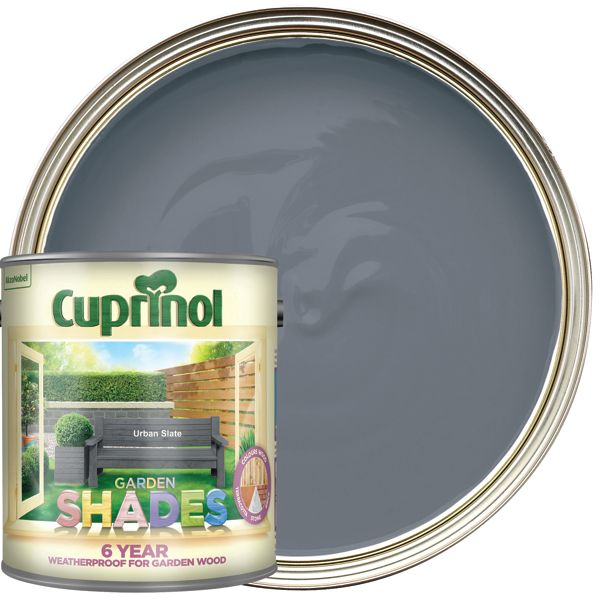 Cuprinol 2.5L Garden Shades Matt Wood Treatment - Urban Slate