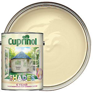 Image of Cuprinol Garden Shades Matt Wood Treatment - Country Cream 5L