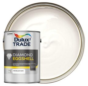 Dulux Trade Diamond Eggshell Emulsion Paint Pure Brilliant White 5l