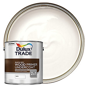 Dulux Trade Quick Dry Wood Primer & Undercoat Paint - White 2.5L