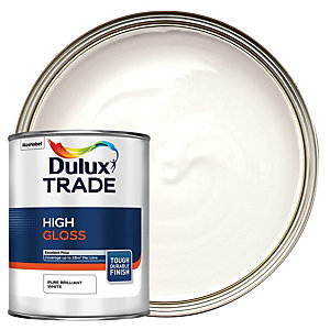 Dulux Trade High Gloss Paint - Pure Brilliant White 1L