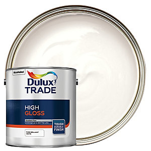 Dulux Trade High Gloss Paint - Pure Brilliant White 2.5L